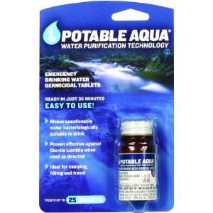 Survival Water Treatment Tablets